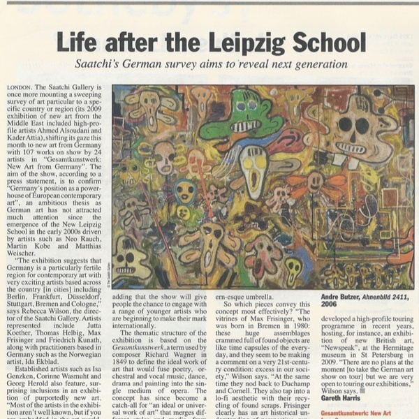 ANDRE BUTZER / Life after Leipzig school